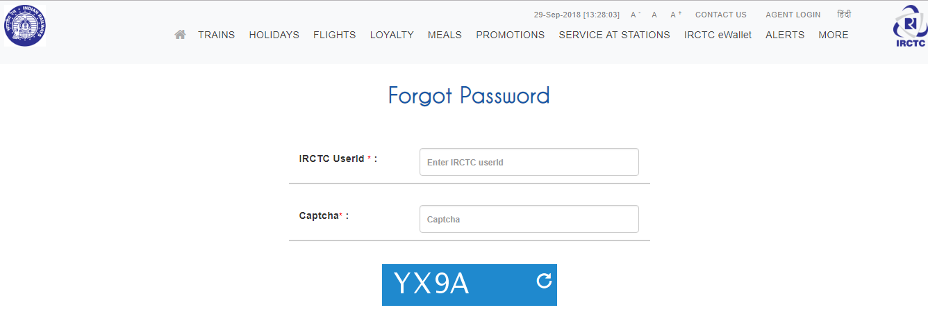 I forgot my username, how do I recover my IRCTC account